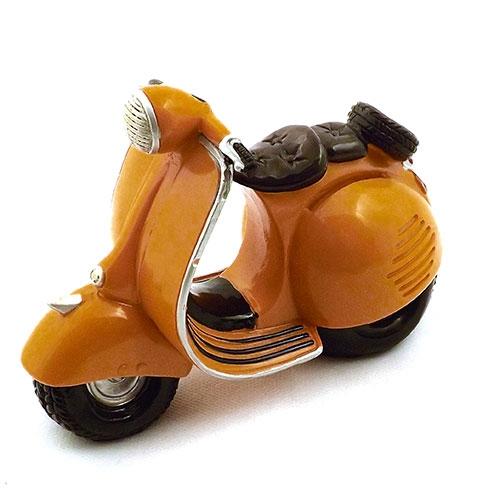 Cofre / Miniatura Motocicleta Antiga - Laranja - Feita de Resina - 17x11 cm