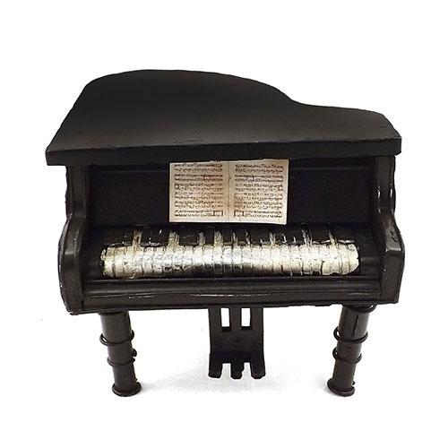 Cofre / Miniatura de Piano - Feito de Metal - 14x12 cm