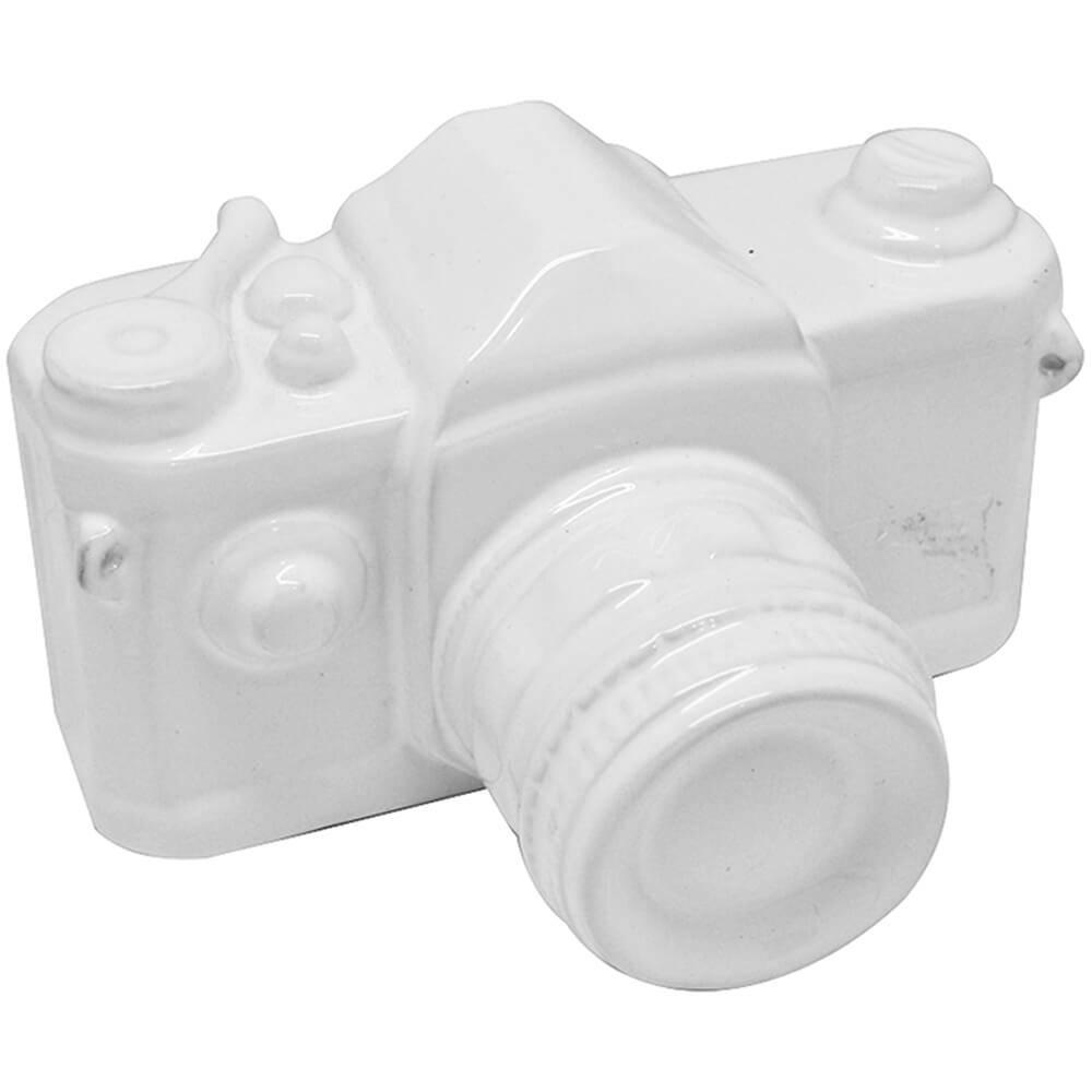 Cofre Photo Camera Grande Branco em Cerâmica - Urban - 21x16 cm