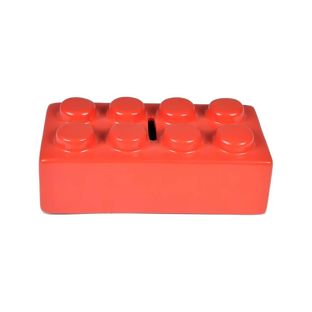 Cofre Puzzle Vermelho em Cerâmica - Urban - 16x8 cm