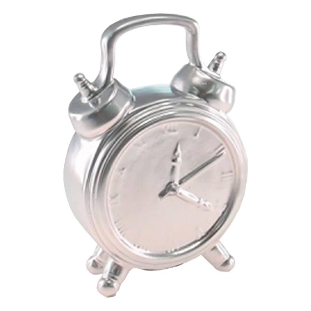 Cofre Relógio Prata em Cerâmica - 18x12 cm