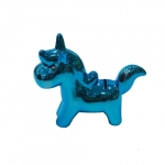 Cofre unicórnio azul cromado