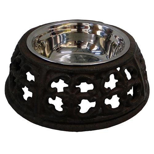 Comedouro Pet Arabescos Dog/Cat Médio Greenway - 21cm