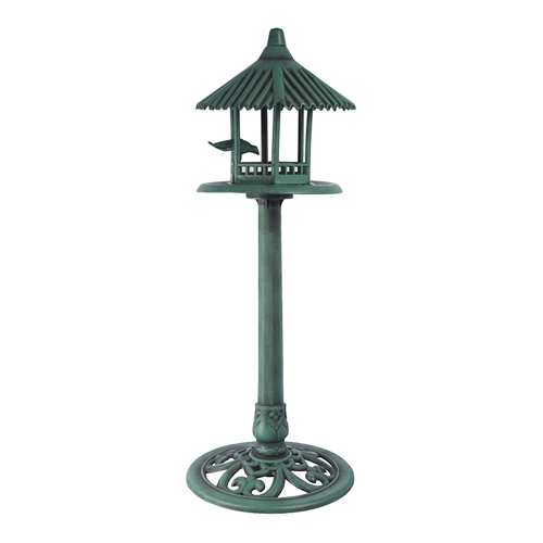 Comedouro Verde com Telhado Pássaros Greenway - 95x33 cm