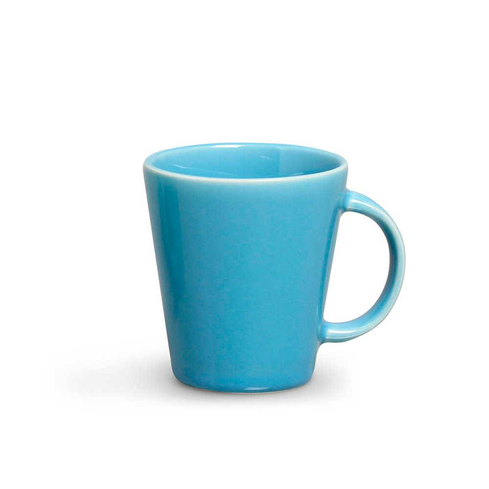 Conjunto 12 Canecas Basics Azul Celeste 220 ml em Cerâmica - Porto Brasil
