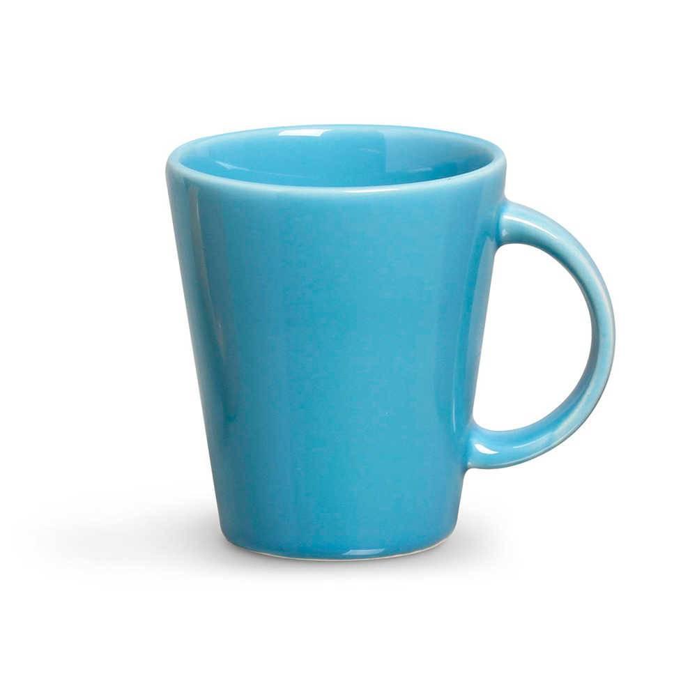 Conjunto 12 Canecas Lisas Azul Celeste 360 ml em Cerâmica - Porto Brasil