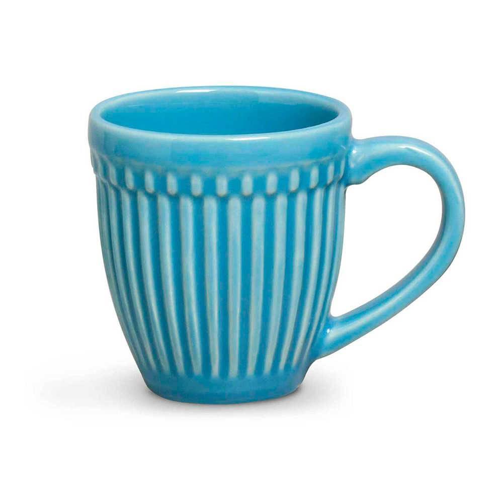 Conjunto 12 Canecas Roma Azul Celeste 320 ml em Cerâmica - Porto Brasil
