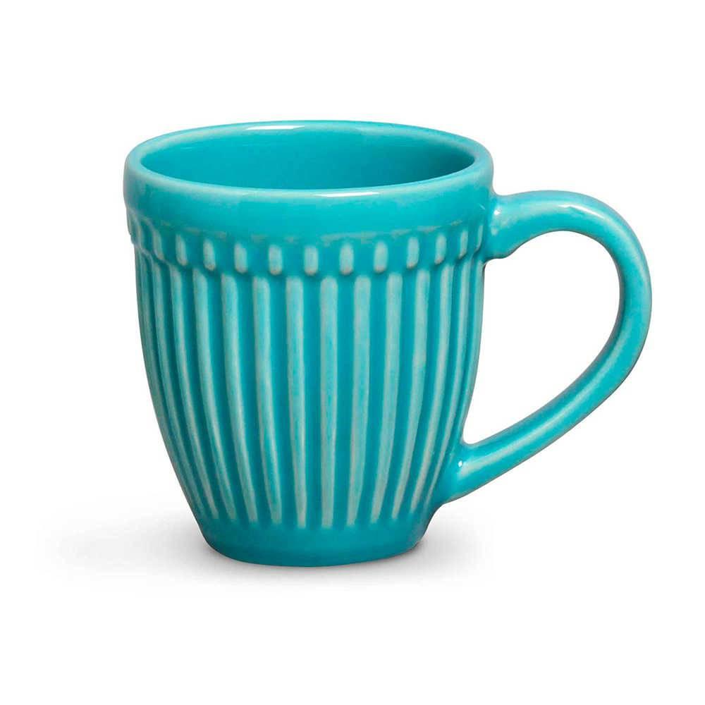Conjunto 12 Canecas Roma Azul Poppy 320 ml em Cerâmica - Porto Brasil