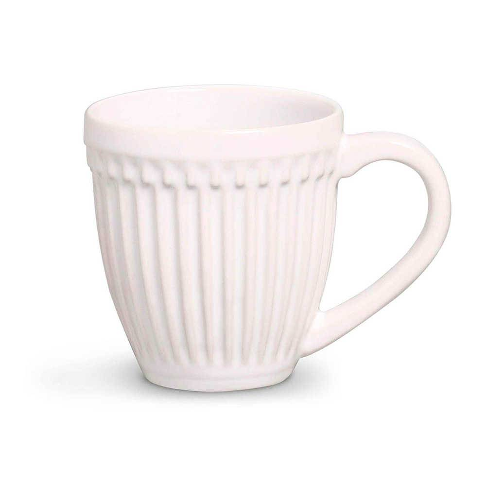 Conjunto 12 Canecas Roma Branco 320 ml em Cerâmica - Porto Brasil