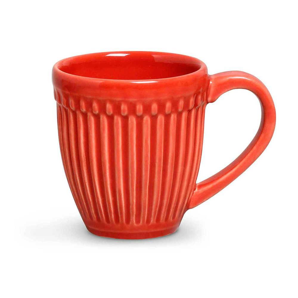 Conjunto 12 Canecas Roma Vermelho 320 ml em Cerâmica - Porto Brasil