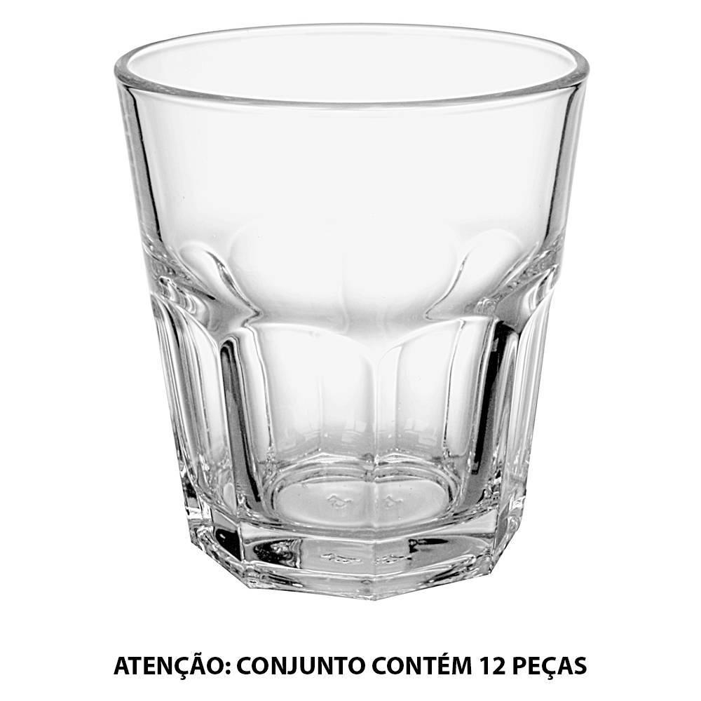 Conjunto 12 Copos Baixos Casablanca - 360 ml - em Vidro - Pasabahce - 12x10 cm