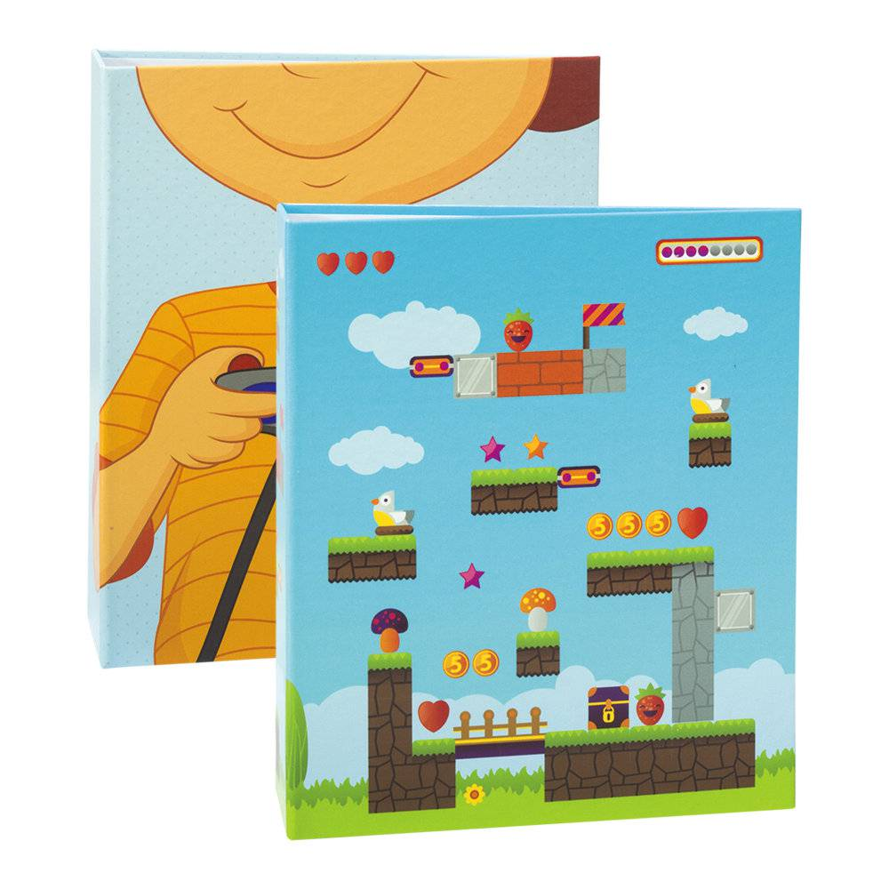 Conjunto 2 Álbuns de Fotos Infantil Game - 240 Fotos 10x15 cm - com Solda - 24,2x18,1 cm