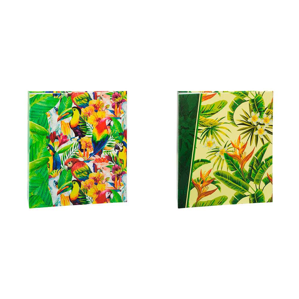Conjunto 2 Álbuns de Fotos Tropical - com 240 Fotos 10x15 cm cada - 24,2x18,1 cm