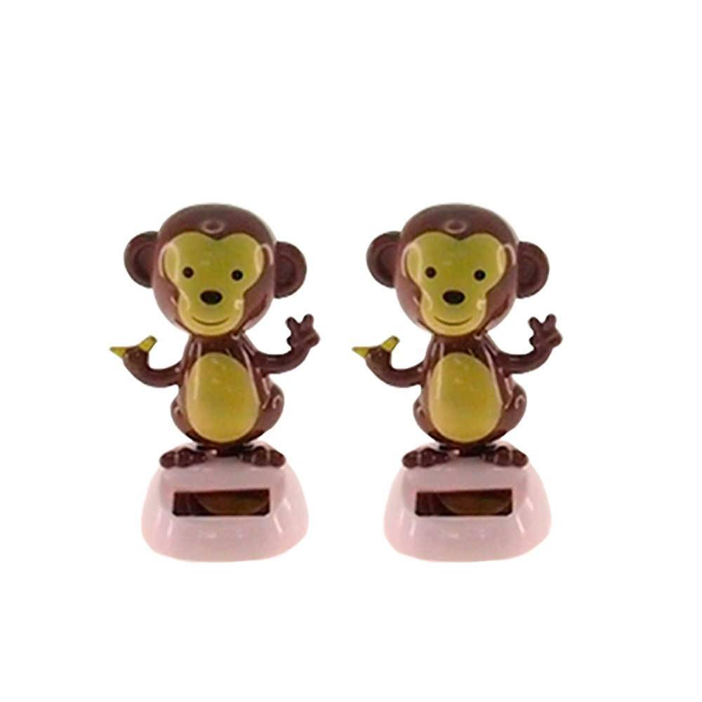 Conjunto 2 Bonecos Macaquinhos Dançarinos de Hula - 10x5 cm