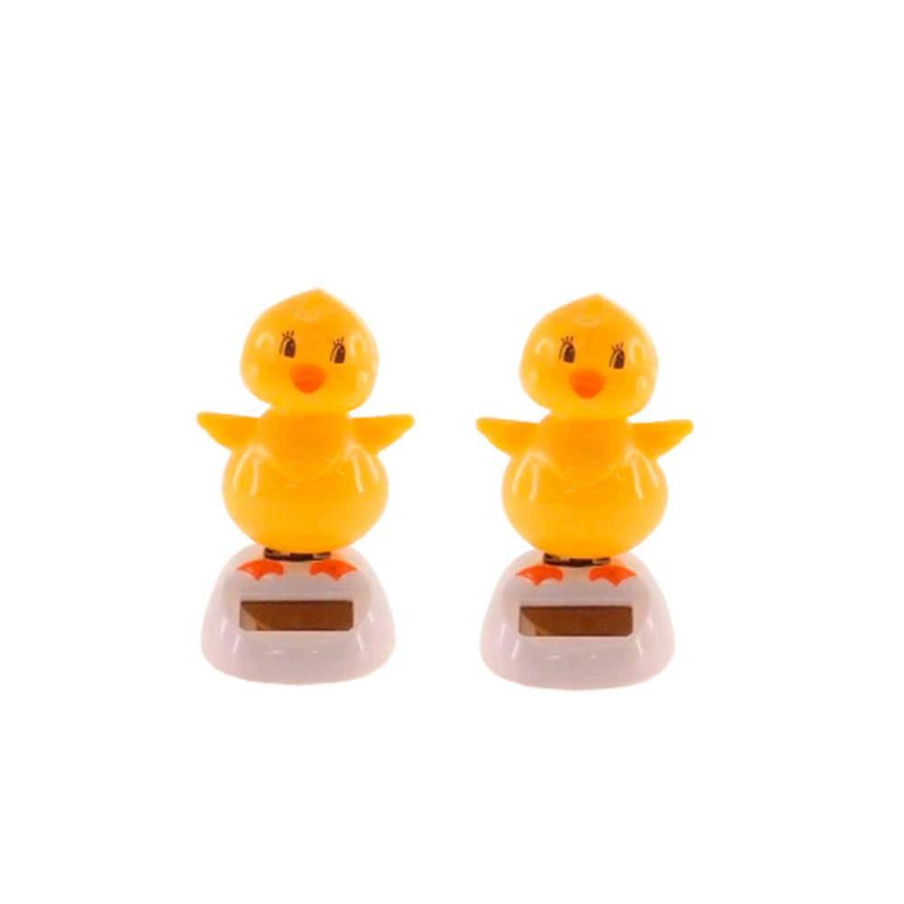 Conjunto 2 Bonecos Patinhos Amarelos Dançarinos de Hula - 10x5 cm
