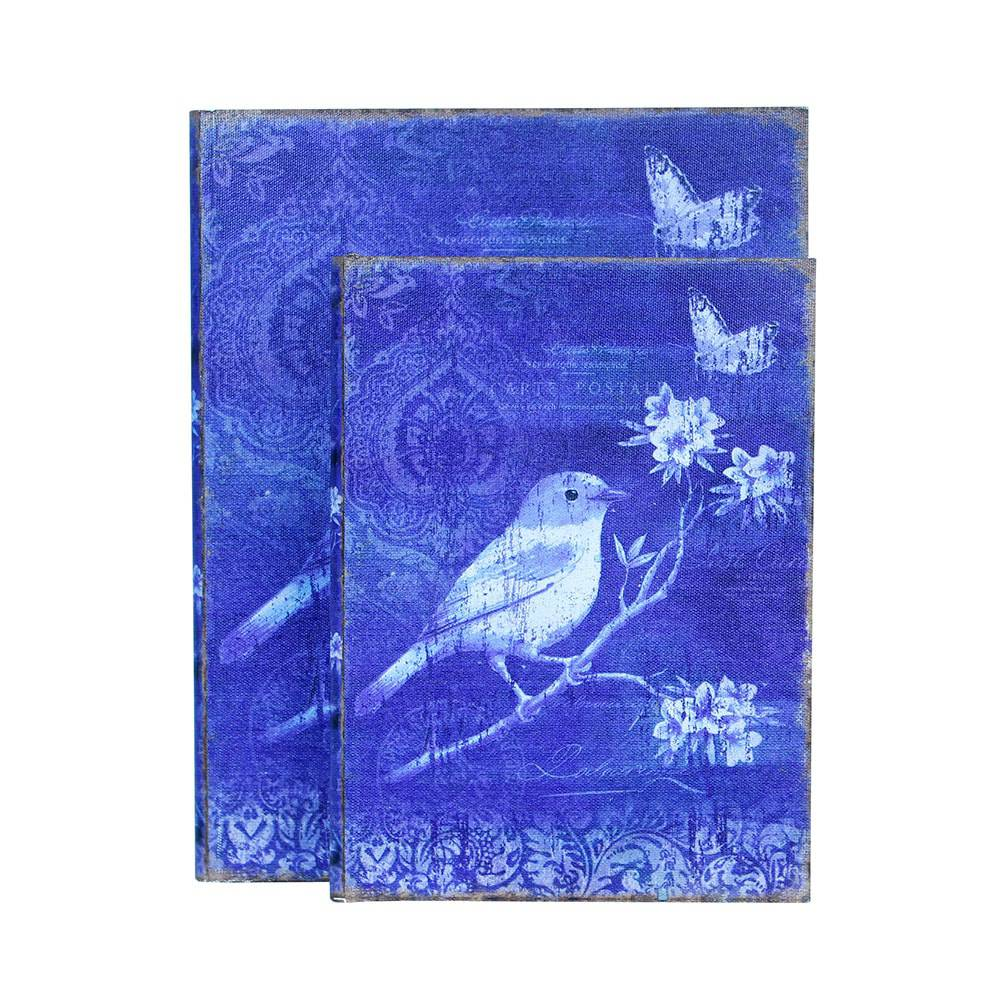 Conjunto 2 Book Box Blue Bird Oldway - 30x24 cm