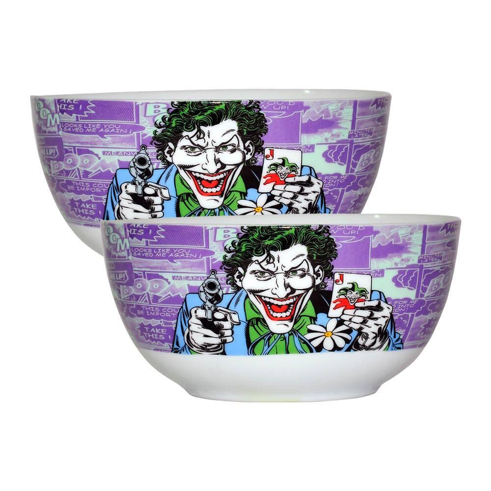 Conjunto 2 Bowls DC Comics Joker Roxo em Porcelana - Urban - 14x7,3 cm