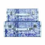 Conjunto de 2 Maletas Azulejo Oldway - 35x25x14cm