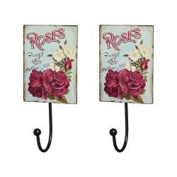 Conjunto 2 Penduradores Decorativos Roses em Metal - 20x9 cm. Indisponível. Baú  Grande Antique Vermelho em Madeira com Detalhes ... 58397586e15