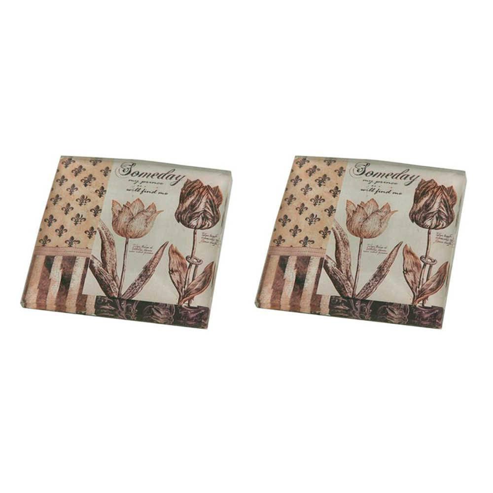 Conjunto 2 Pesos para Papel Someday Vintage em Vidro - 8x8 cm