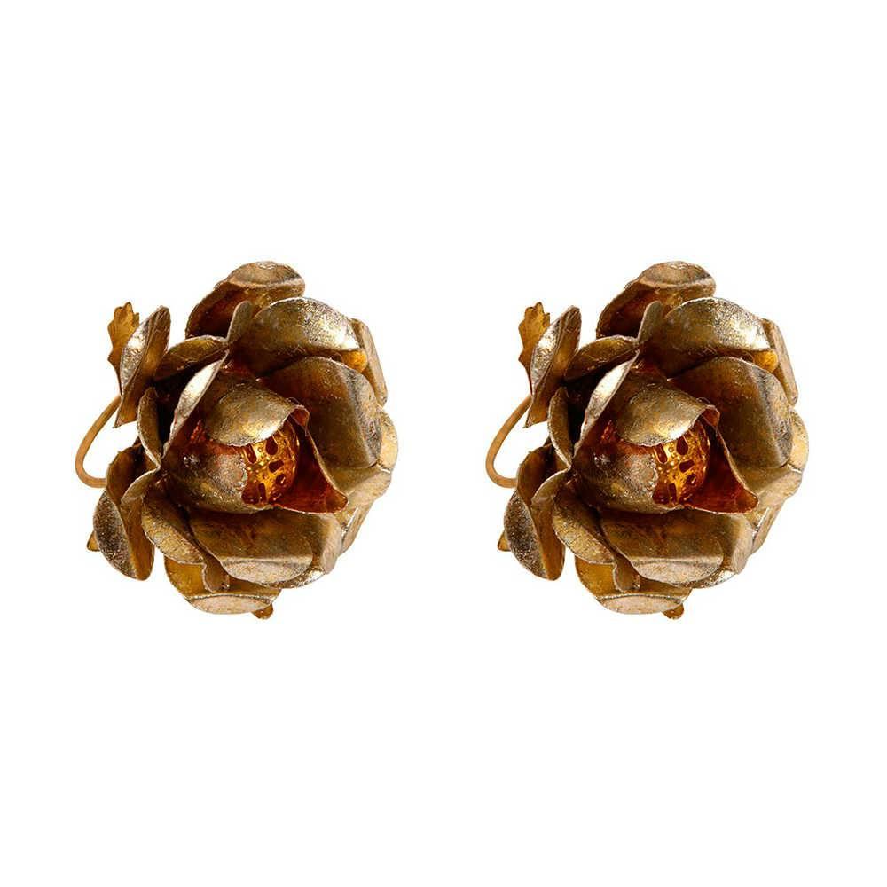 Conjunto 2 Porta-Guardanapos Rose Bronze em Metal - 5x4 cm