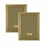 Conjunto 2 Porta-Retratos Dourados - Foto 13x18 cm - Efeito Escovado - 21x16 cm