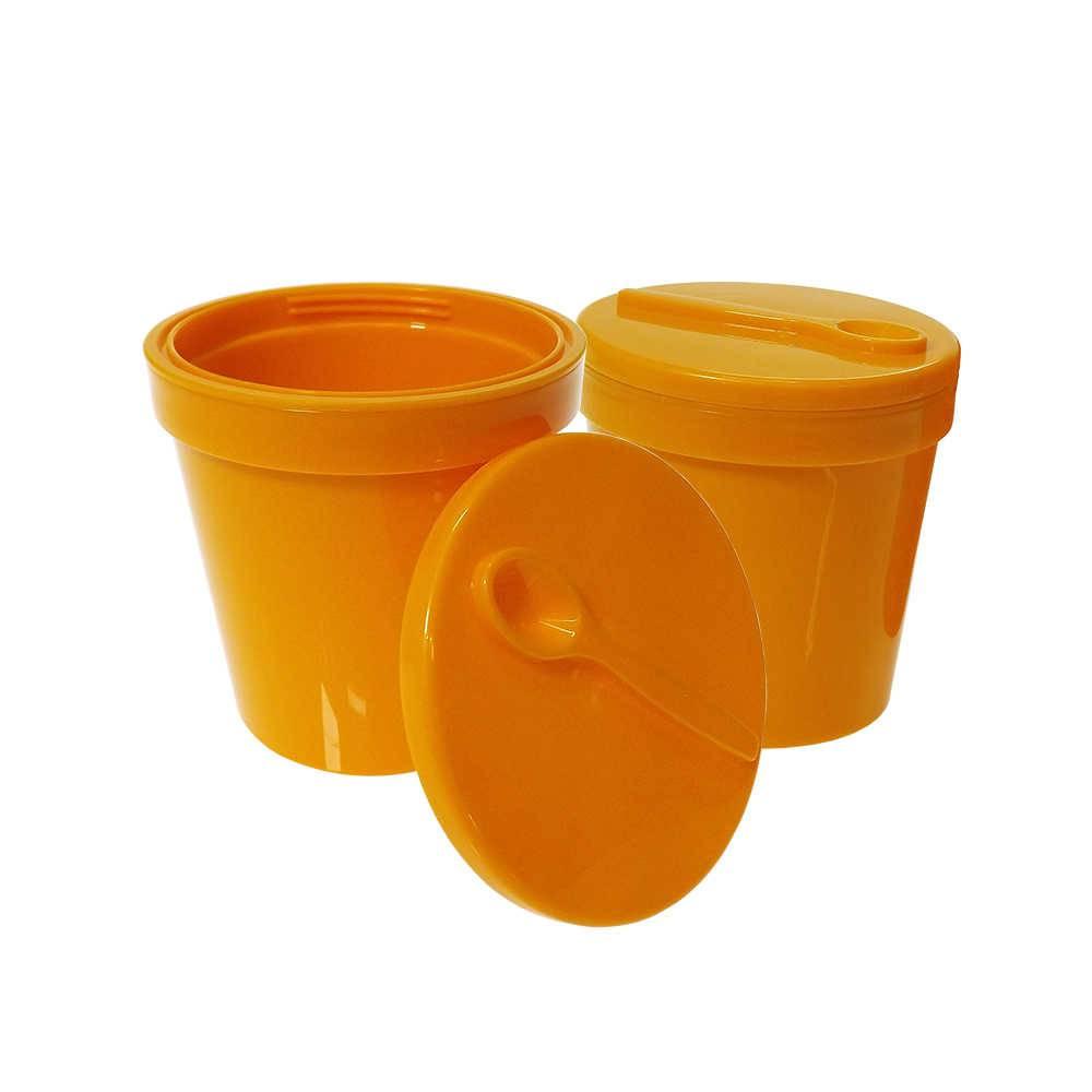 Conjunto 2 Potes Térmicos para Sorvete Colorways Laranja com Tampa - Zak