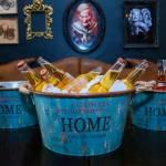 Conjunto 3 Bacias Home Azul Claro em Metal - 39x21 cm