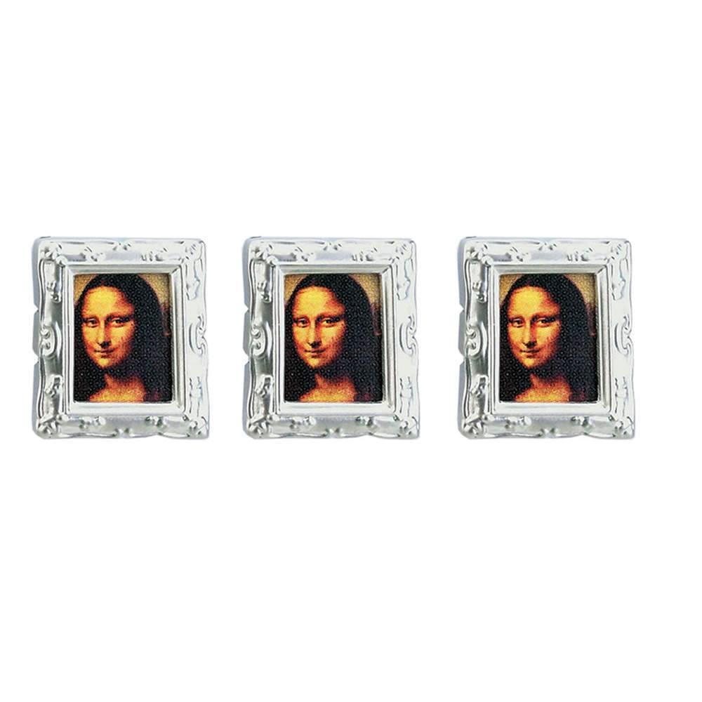 Conjunto 3 Ímãs Porta-Retrato Monalisa Prata Fosco - Urban