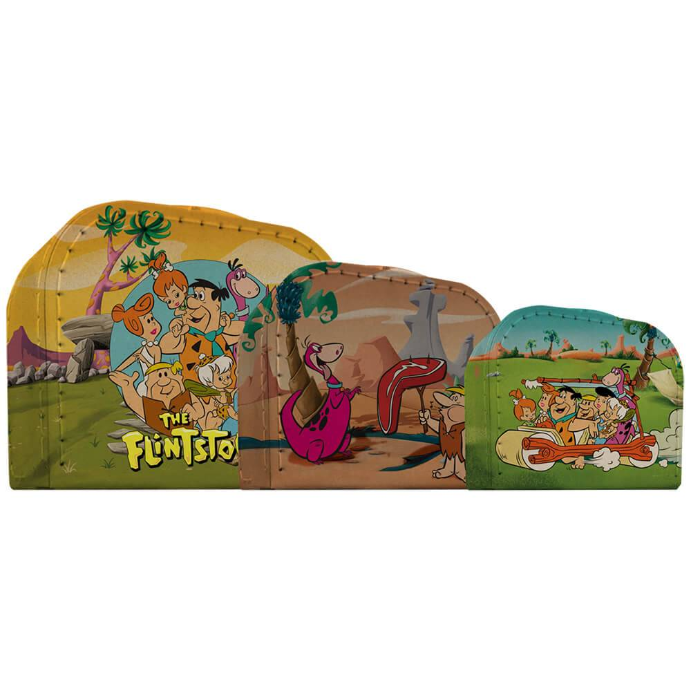Conjunto 3 Maletas HB Flintstones All Caracthers Coloridas - Urban - 30x21 cm