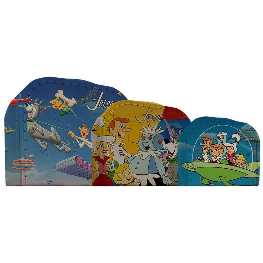 Conjunto 3 Maletas HB Jetson All Caracthers Coloridas - Urban - 30x21 cm