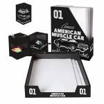 Conjunto 3 Peças para Escritório GM American Muscle Car Preto e Branco - Urban