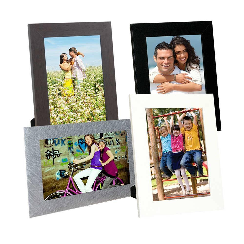 Conjunto 4 Porta-Retratos Basic - Foto 15x21 cm - em Madeira - 24x18 cm