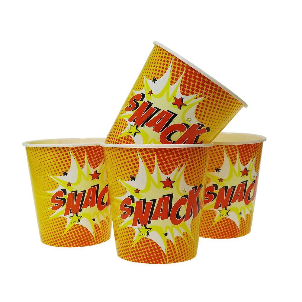 Conjunto de 4 Potes PopCorn Snack - 19x18 cm
