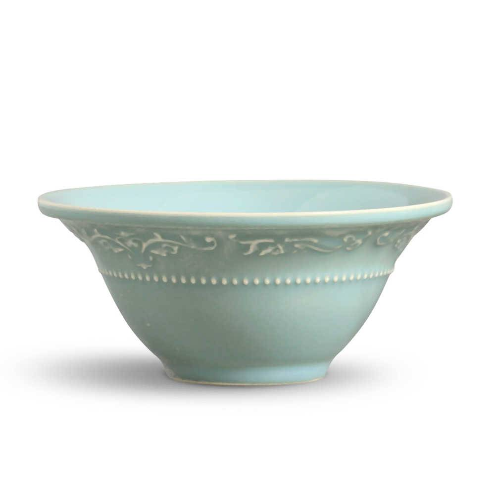 Conjunto 6 Bowls Acanthus Verde - em Cerâmica - La Tavola - Porto Brasil - 15,5x7 cm