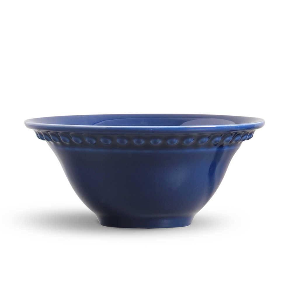 Conjunto 6 Bowls Atenas Azul Navy - em Cerâmica - La Tavola - Porto Brasil - 15,5x7 cm