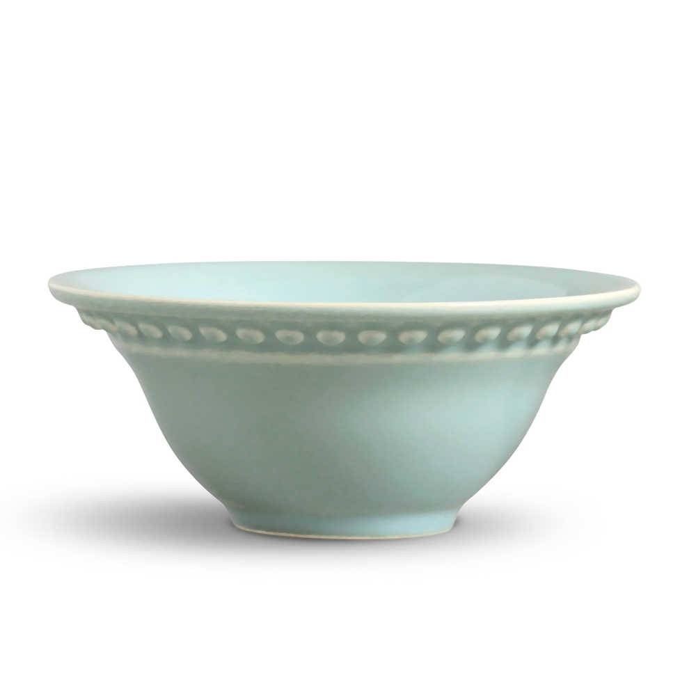 Conjunto 6 Bowls Atenas Verde - em Cerâmica - La Tavola - Porto Brasil - 15,5x7 cm