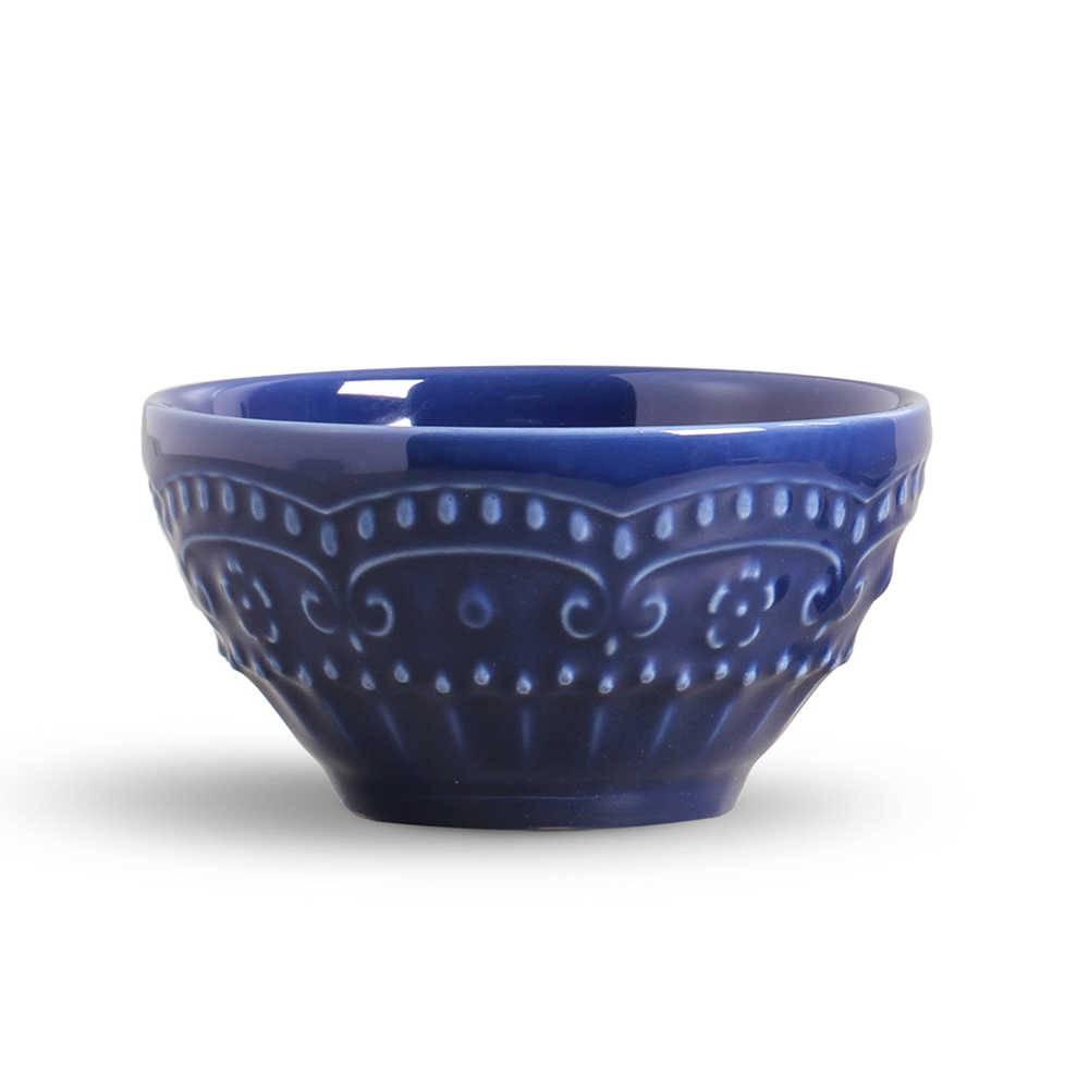 Conjunto 6 Bowls Esparta Azul Navy - em Cerâmica - La Tavola - Porto Brasil - 15,5x7 cm