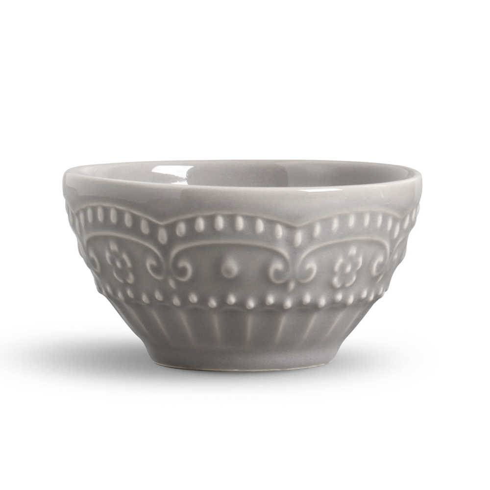 Conjunto 6 Bowls Esparta Cinza Claro - em Cerâmica - La Tavola - Porto Brasil - 15,5x7 cm
