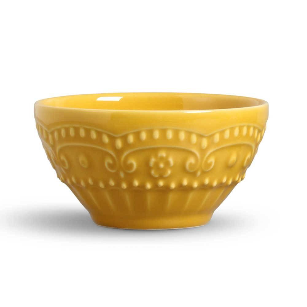 Conjunto 6 Bowls Esparta Mostarda - em Cerâmica - La Tavola - Porto Brasil - 15,5x7 cm