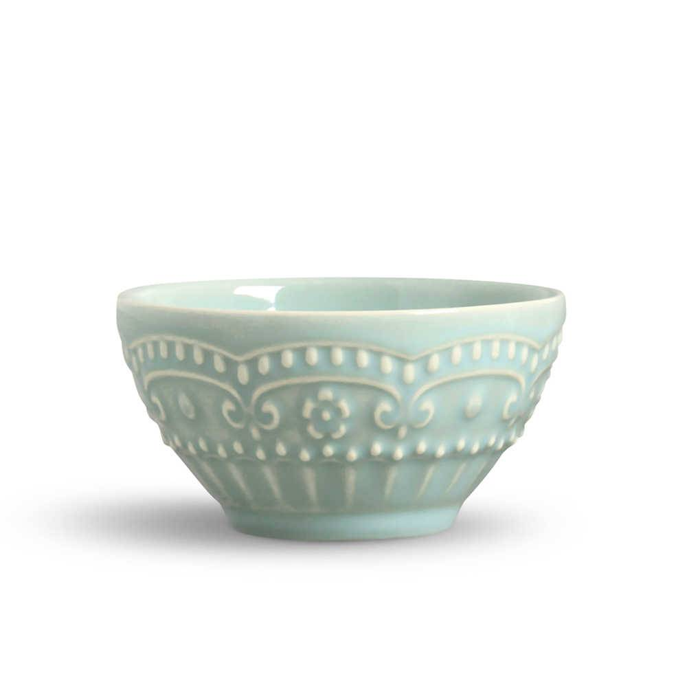 Conjunto 6 Bowls Esparta Verde - em Cerâmica - La Tavola - Porto Brasil - 15,5x7 cm