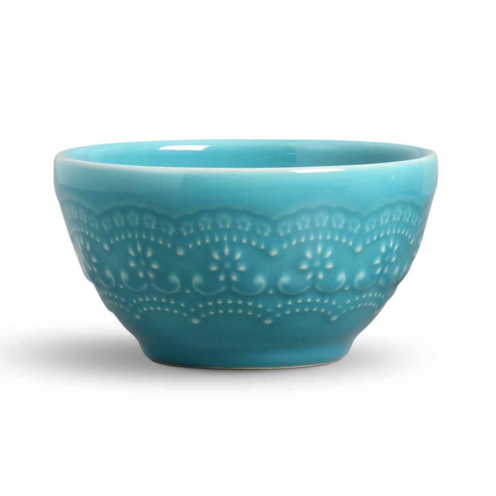 Conjunto 6 Bowls Madeleine Azul Poppy - em Cerâmica - La Tavola - Porto Brasil - 15,5x7 cm