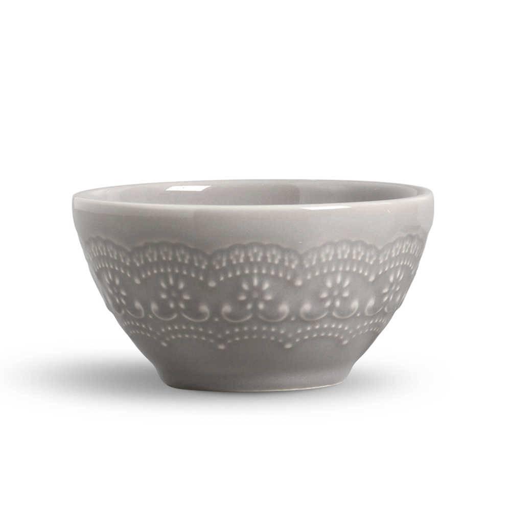 Conjunto 6 Bowls Madeleine Cinza Claro - em Cerâmica - La Tavola - Porto Brasil - 15,5x7 cm