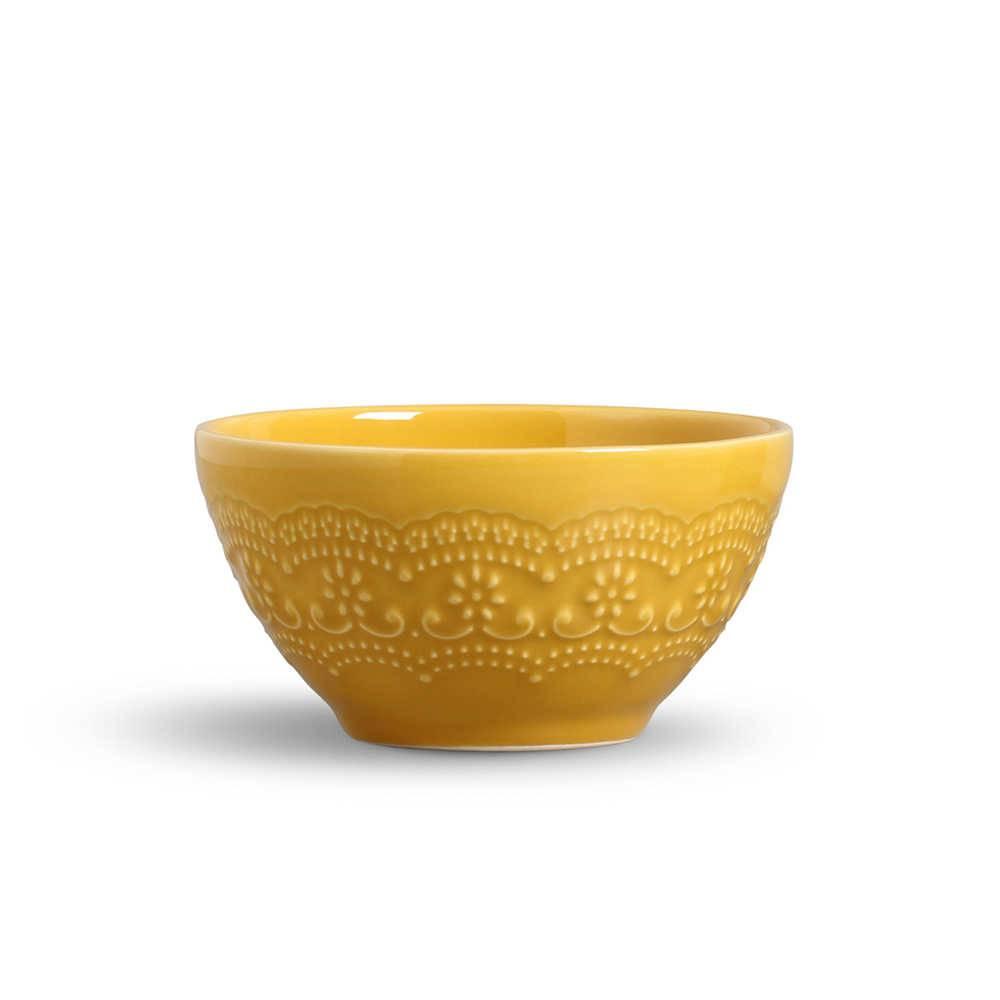 Conjunto 6 Bowls Madeleine Mostarda - em Cerâmica - La Tavola - Porto Brasil - 15,5x7 cm