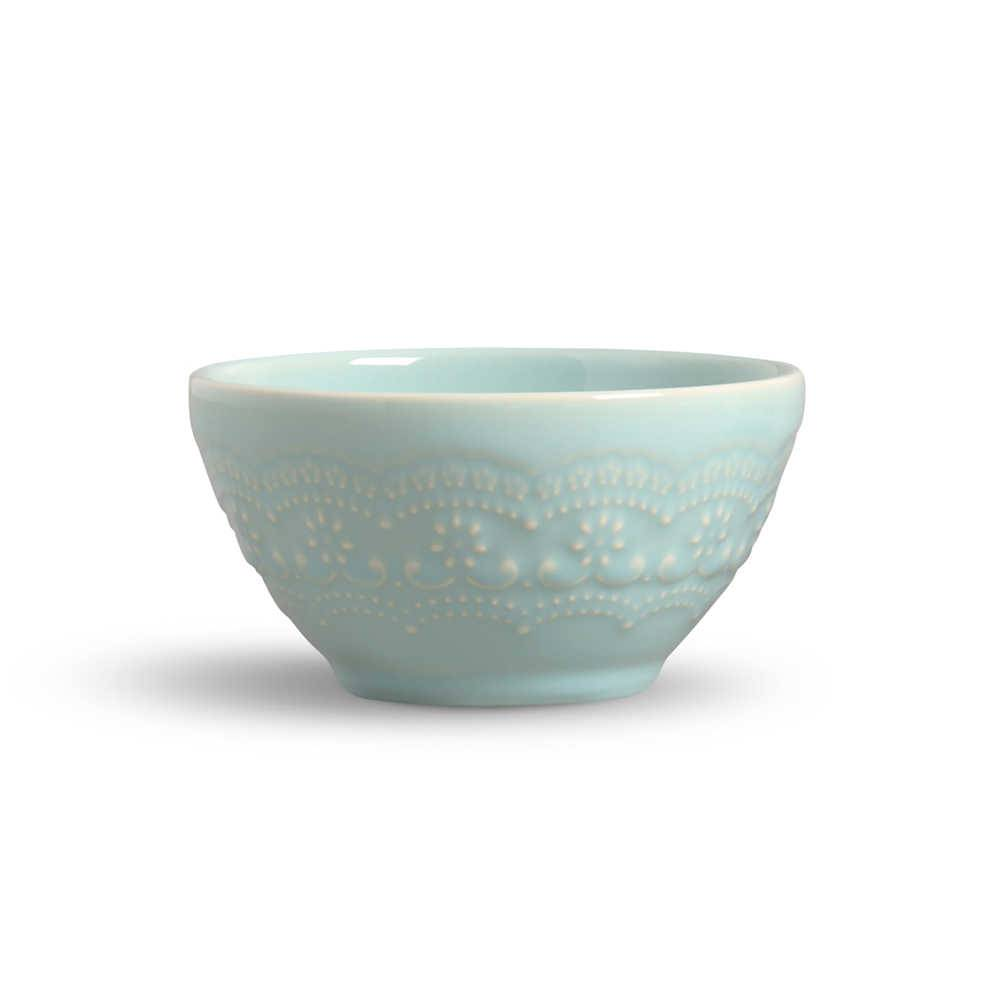 Conjunto 6 Bowls Madeleine Verde - em Cerâmica - La Tavola - Porto Brasil - 15,5x7 cm
