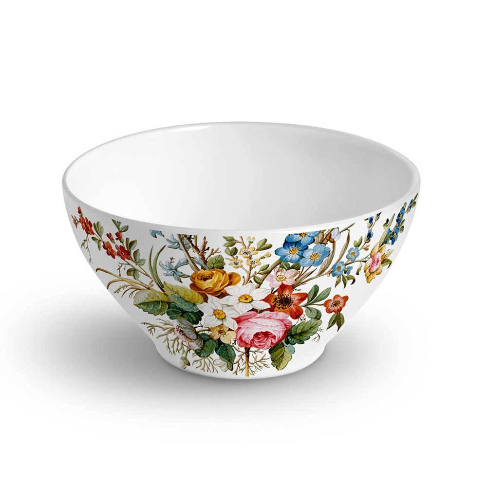 Conjunto 6 Bowls Mônaco Botanique 420 ml em Cerâmica - Porto Brasil - 12,5x6,5 cm