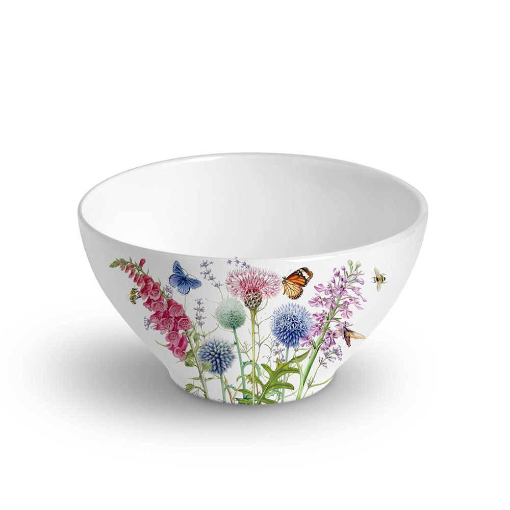 Conjunto 6 Bowls Mônaco Flora 420 ml em Cerâmica - Porto Brasil - 12,5x6,5 cm