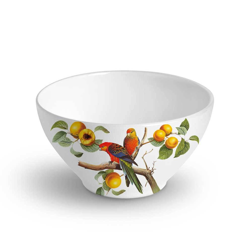 Conjunto 6 Bowls Mônaco Pêssegos 420 ml em Cerâmica - Porto Brasil - 12,5x6,5 cm