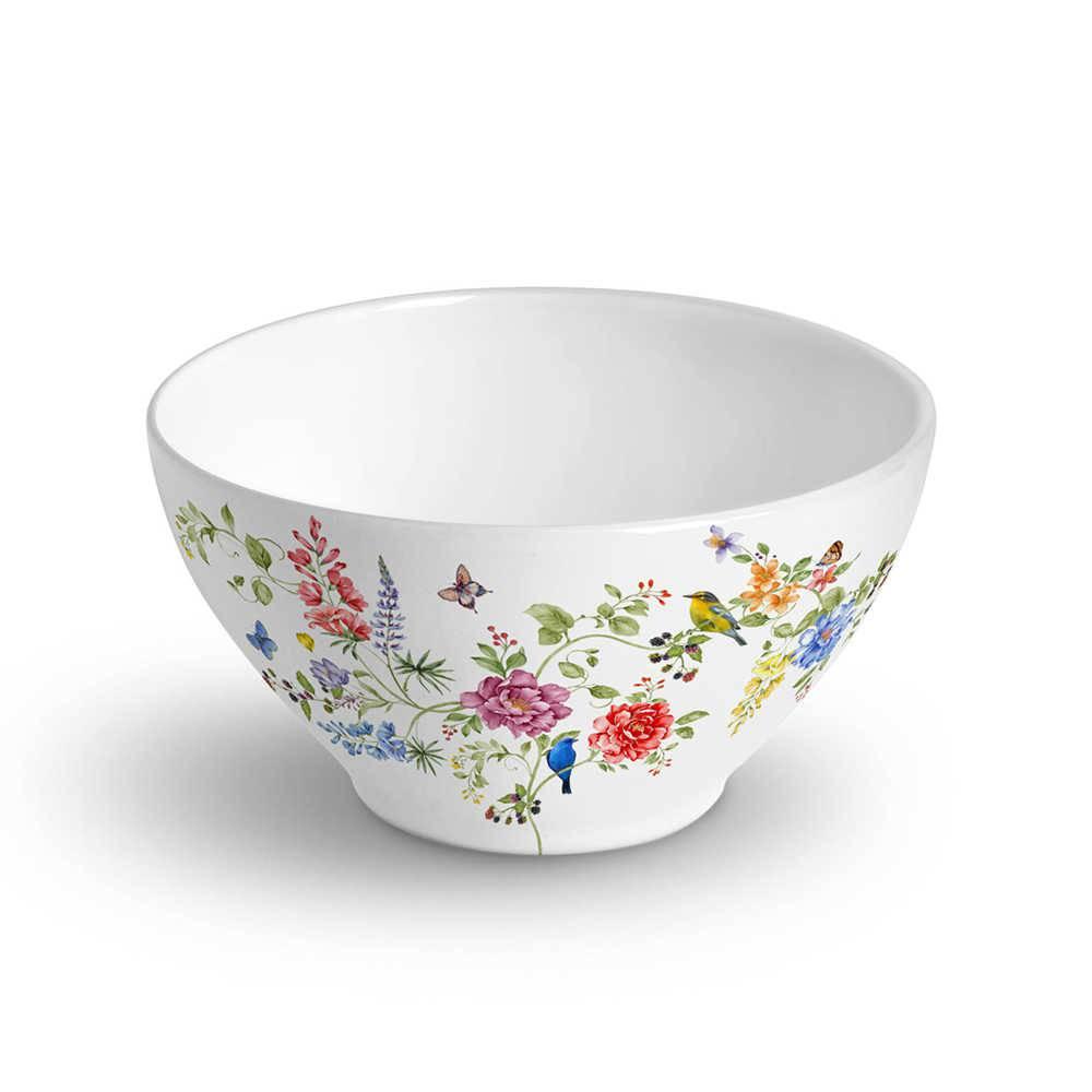 Conjunto 6 Bowls Mônaco Primavera 420 ml em Cerâmica - Porto Brasil - 12,5x6,5 cm