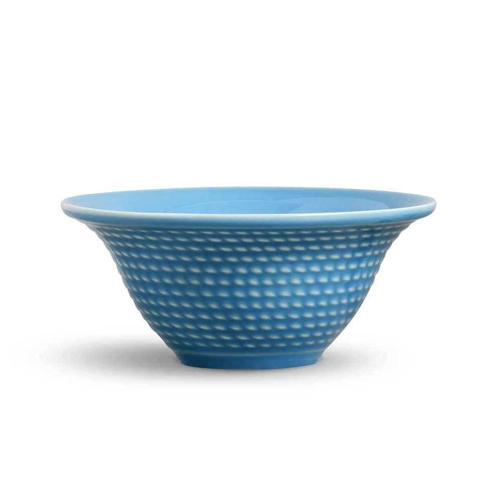 Conjunto 6 Bowls Olímpia Azul Celeste - em Cerâmica - La Tavola - Porto Brasil - 15,5x7 cm